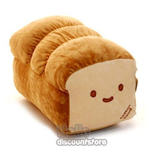 BREAD 6'', 10'', 15'' Plush Pillow Cushion Doll Toy Gift Home Bed Room Interior Decoration Girl Child Gift Cute Kawaii by Cupid Gift Shop (10 inches)