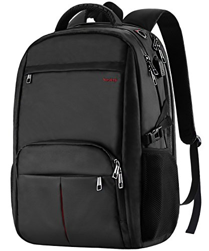 Large Laptop Backpack,17.3 inch Durable TSA Business Slim School Travel Laptop Backpack with USB charging Port, Waterproof Anti-Theft big College Students backpack for Women Men 17 inch laptop- (Large Computer Backpack)