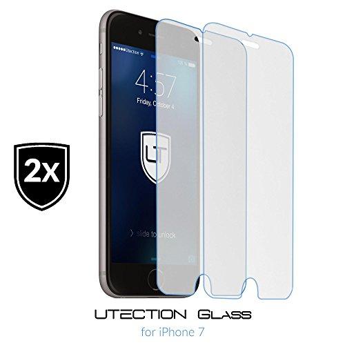 [2Pack] UTECTION iPhone 7 Folie Panzerglas display-schutzfolie Hartglas