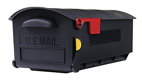 Gibraltar Mailboxes Patriot Large Capacity Rust-Proof Plastic Black, Post-Mount Mailbox, GMB515B01