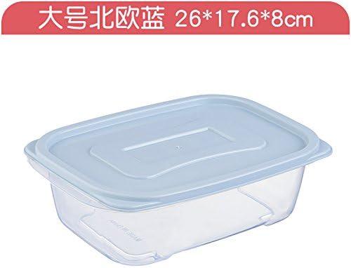 XXAICW Caja plástico transparente rectangular cocina congelador sello caja almacenaje multifuncional caja caja de almacenamiento de alimento de la tapa, Reina azul: Amazon.es: Hogar