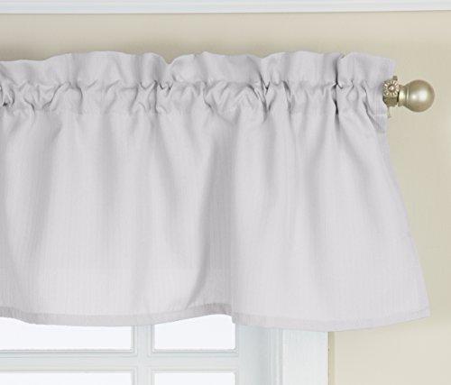 Lorraine Home Fashions Ribcord Valance, 54-Inch x 12-Inch, White (White Window Valance)