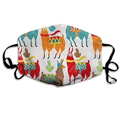 CAOBOO Dust Mask Reusable Mask for Men and Women Llamas Mouth Mask Unisex