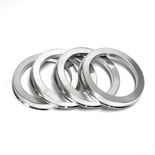 BLOXSPORT Hub Centric Rings 67.1 to 73.1 Silver Forged Aluminum 73.1mm OD to 67.1mm ID for Maserati Mazda Mitsubishi Hyundai Kia