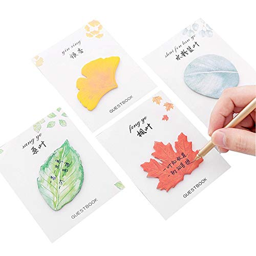Elevin(TM)  Cute Sticky Notes Paper Leaves Stickers Note Sticker Paper Memo Pad Stationery by Elevin(TM) _ Home Decor & Kitchen (Image #2)