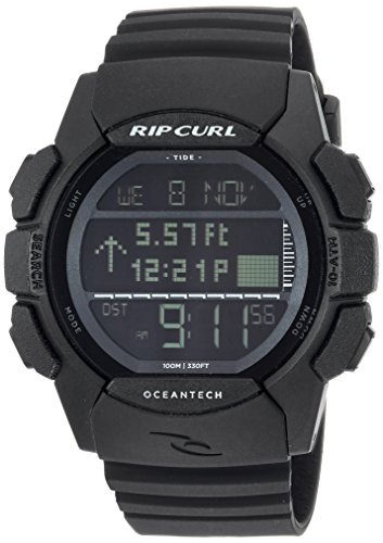 Rip Curl Men's Quartz Plastic and Polyurethane Sport Watch, Color:Black (Model: A1133MID1SZ) Polyurethane Round Watch