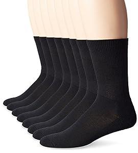 MediPEDS Men's 8 Pack Diabetic Extra Wide Crew Socks