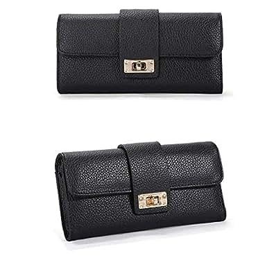 TSLJH Women Bifold Leather Wallet Clutch Phone Card Holders ...
