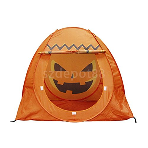 uptogethertek Playground Yard Easy Set Up Pumpkin Play Tent for Halloween Party Picnics by uptogethertek