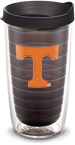 (Tervis 1055450 Tennessee Volunteers Logo Tumbler with Emblem and Black Lid 16oz, Quartz)