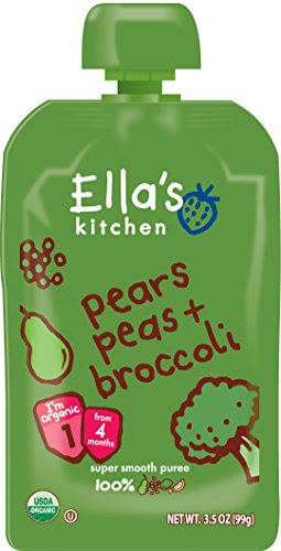 Ella's Kitchen Organic Stage 2, Pears Peas + Broccoli