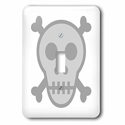 3dRose Xander funny quotes - Skull and crossbones, picture of skull on a white background - Light Switch Covers - single toggle switch (lsp_265899_1) -