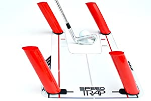 EyeLine Golf Speed Trap Base, 4 Red Speed Rods & Carry Bag; Shape Shots and Eliminate a Slice or Hook - Made in USA - 12 Month Warranty