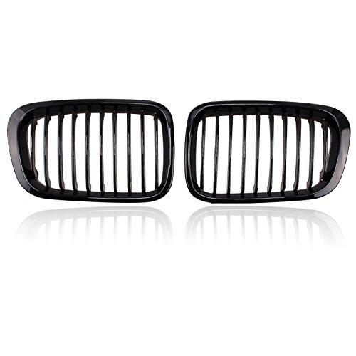 Gloss Black Front Grille Grill for BMW 4 Door E46 320i 323i 325i 328i 330i E46 (Bmw 323i Grille)