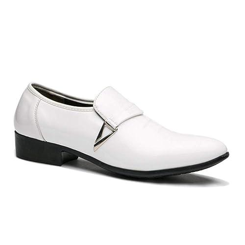 Yudesun Formal Boda Uniforme Cuero Zapatos Hombre - Moda ...