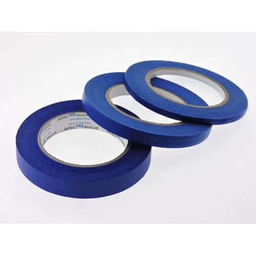 "1/4"" 1/2"" 3/4"" x 60 yd Multi Size Pack Blue Painters Tape PROFESSIONAL Grade Fine Masking Edge Pin Stripping Trim Multi Surface Easy Removal (.25 .5 .75 in)"
