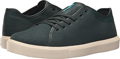 Monaco Moc (Native Men's Monaco Low Wax Canvas Fashion Sneaker, Botanical Green Wax/Bone White, 9 M US)