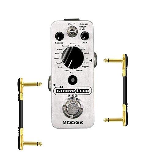 MOOER Groove Loop Drum Machine Looper Pedal with 2 Getaria Guitar Effect Cables