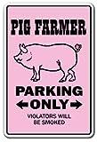 PIG FARMER ~Novelty Sign~ pigs parking farm hog sow new