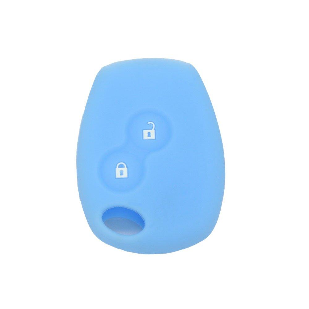 Fassport, CV4350, Guscio in Silicone aderente per chiave/telecomando, con due bottoni, per Renault Dacia,