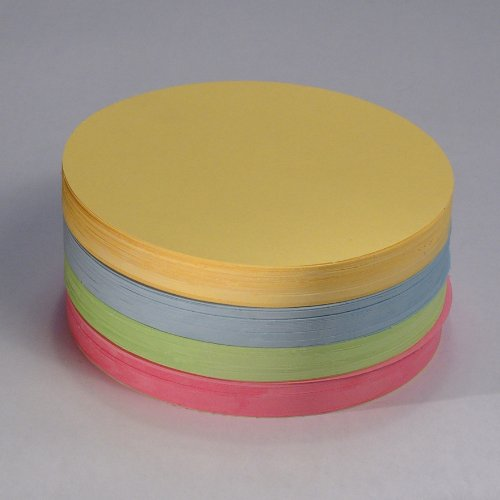 'Office Line–Tarjetas de moderación círculos, varios colores, 130g, diámetro de 14cm, 500unidades, número de referencia: 770086 Hanauerland Werkstätten 6200086