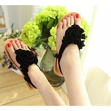 Beige Negro Ocasionales Primavera Womens De Negro Pu Bajo De Sandalias Vino Zapatos Comfort FSCHOOLY Otoño Para Tacón Z6Uwfqnn