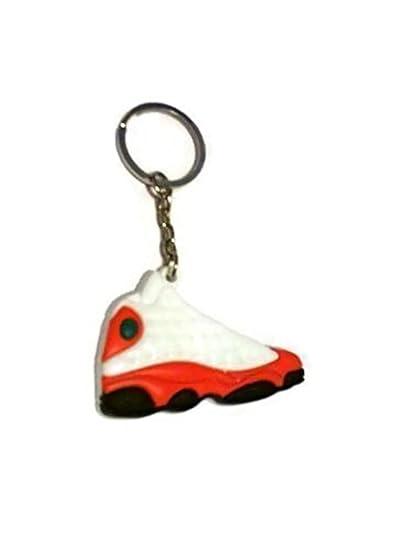 newest 61898 cadfe Amazon.com  Jordan XIII 13 White Red Sneakers Shoes Keychain Keyring AJ 23  Retro  Automotive