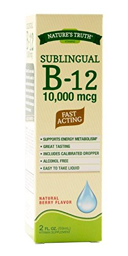 Nature's Truth Sublingual Vitamin B-12 10,000 Mcg, Fast Acting Liquid, Natural Berry Flavor, 2 Fluid Ounce (Pack of 3)