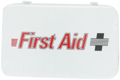 North by Honeywell 3510#2F 10 Unit Steel Econo - First Aid Logo by North