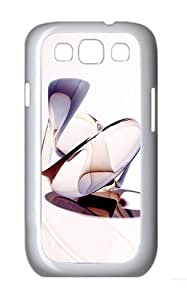 Abstract 3D Shapes Custom Hard Back Case Samsung Galaxy S3 SIII I9300 Case Cover - Polycarbonate - White
