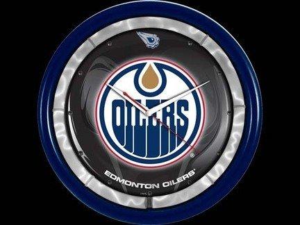 (Authentic Street Signs NHL Hockey Sports Team Plasma Clock (Edmonton Oilers))