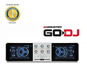 monster go dj portable mixer digital turntable with lcd touch screen and 1 year free. Black Bedroom Furniture Sets. Home Design Ideas