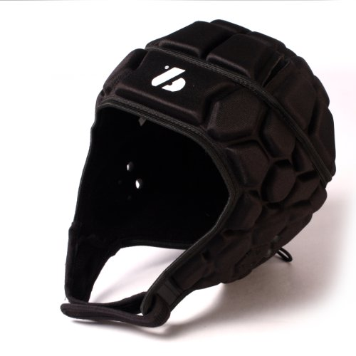 HEAT PRO competition rugby helmet headguard, black, size L