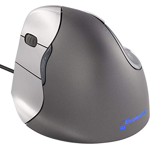 Evoluent VM4L VerticalMouse 4 Left Hand Ergonomic Mouse with Wired USB Connection (Regular Size) from Evoluent