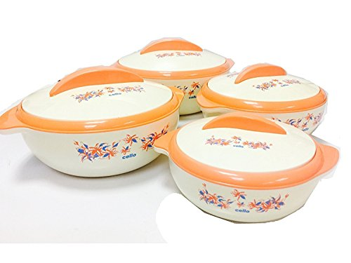Cello Sizzler Insulated Casserole Food Server Hot Pot Gift Set (4Piece Set)