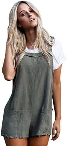 2eb76d4469 Hengshikeji Clearance Women Casual Straps Romper Jumpsuits Sexy Playsuits  Short Pants Bodysuits Teen Girls for Summer