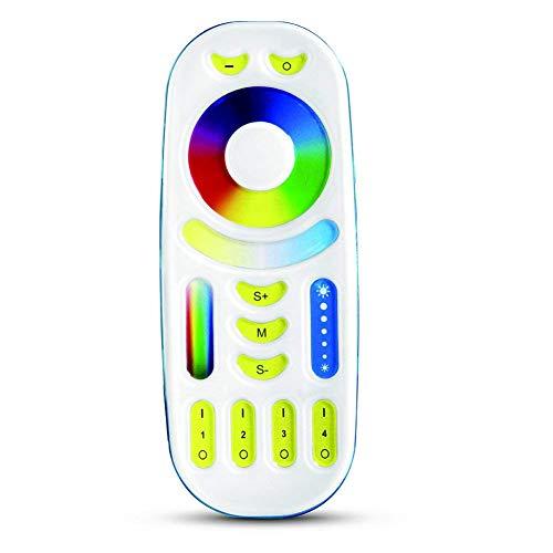 Mi Light 2.4G RGB+CCT Touch Remote Controller, 4-Zone Wi-Fi Group Control 8W E26,4W GU10 MR16,35W 50W Flood Light, for Mi Light RGBCCT/CCT LED Bulbs/ Downlight/ Strip/ Rail Tracking Light