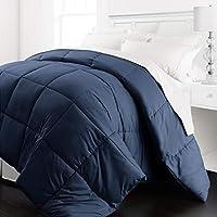 Beckham Hotel Collection - Lightweight All Season - Luxury Goose Down Alternative Comforter - Hotel Quality Comforter and Hypoallergenic -Full/Queen - Navy