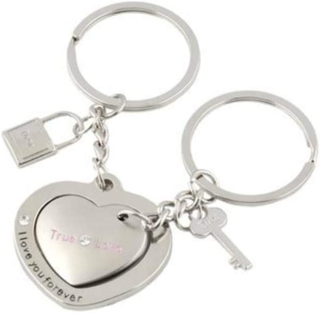 Key Creative Love Token Key chain for Valentines Gift Wedding Anniversary Gift FILWO Couples Keychains I Love You Heart