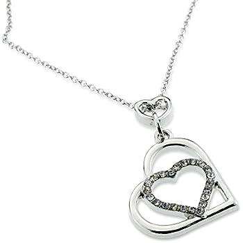 romantic multiple open heart pendant silver. Black Bedroom Furniture Sets. Home Design Ideas