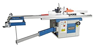 "Baileigh MF-4005 5-In-1 Multifunction Machine, 16"" Planer/Jointer, 12"" Table Saw, 3/8"" Slotter, and Shaper, 220V, 1 Phase"