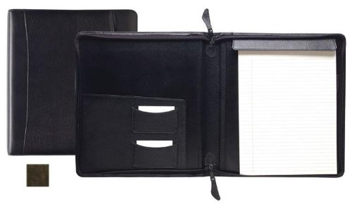Raika VI 143 BROWN Standard Zipper Writing Pad - Brown by Raika