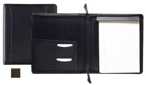 Raika VI 143 BROWN Standard Zipper Writing Pad - Brown by Raika