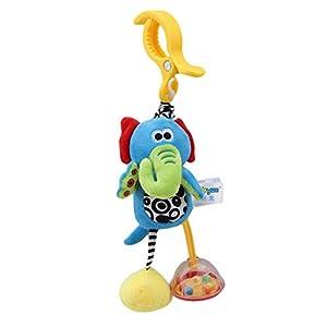 kemai Baby Pram Pushchair Stroller Toys, Infant Cartoon Animal Rattle Doll Baby Arch Pram Crib Activity Hanging Toys…