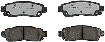 ACDelco 17D883MH Professional Durastop Semi-Metallic Rear Disc Brake Pad Set
