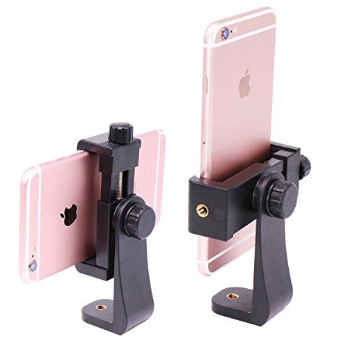 "Ulanzi Tripod Mount /Vertical Bracket Smartphone Holder/Phone Clip Clipper Tripod Adapter for iPhone Samsung Smart Phones 2-1/4 - 3-5/8"" Wide (Mount Adapter)"