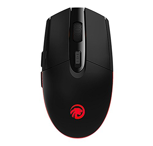 TENMOS T10 Wireless Gaming Mouse Rechargeable Optical Led 2.4GHz USB Computer Mouse, 3 Adjustable DPI,6 Buttons Compatible with Mac/PC/Laptop(Black) by TENMOS