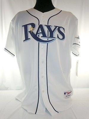 Tampa Bay Devil Rays Authentic Majestic Home Jersey w/ 2008 World Series Patch (Rays Home Jersey Devil Bay)