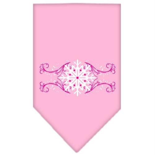 Snowflakes Bandana (Mirage Pet Products Pink Snowflake Swirls Screen Print Bandana for Pets, Small, Light Pink)