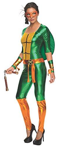 Female Ninja Suit (Secret Wishes Women's Teenage Mutant Ninja Turtles Michelangelo Costume Jumpsuit, Multi,)